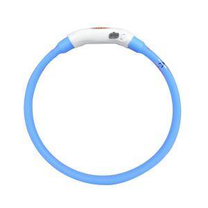 LED光る首輪 発光首輪 USB充電 3モード発光 夜道の安全 視認性バツグン 注目度満点 お散歩 事故防止 青色 M