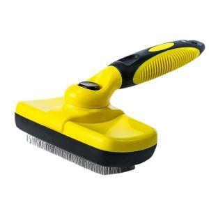 ペットヘアブラシ 掃除機 抜け毛取り 抜け毛除去 櫛 グルーミング 犬猫用 マッサージ 黄色