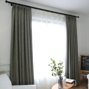 遮光カーテン オーダーカーテン 捺染 寝室用 純色 1級遮光カーテン(1枚)