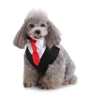 ペット用スカーフ 三角ネック 紳士 ペットバンダナ タイ付き 犬猫用 タキシード デコレーション