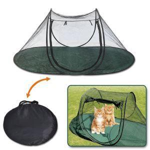 ペット用テント 簡易テント ペットケージ メッシュ 夏用 通気性抜群 アウトドア用 コンパクト 折り畳み 取付簡単 軽便