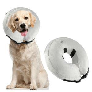 ペット用寝具 犬用枕 首まくら ネックピロー U型枕 介護用まくら 小型犬 中型犬 大型犬 グレー S 22*23cm