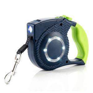 ペット用リード 自動巻き取り 伸縮リード 牽引ロープ LEDライト付き お散歩 お出かけ