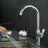 キッチン蛇口 台所蛇口 引出し式水栓 冷熱混合水栓 水道蛇口 クロム 1057