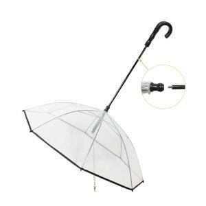 ペット用傘 アンブレラ ペットリード 透明系 折りたたみ可能 収納可能 防水 風邪防止 雨具