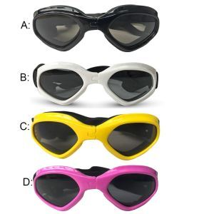 ペット用メガネ サングラス おしゃれ 紫外線対策 UVカット 防水 防風 防霧 目の保護 お出かけ