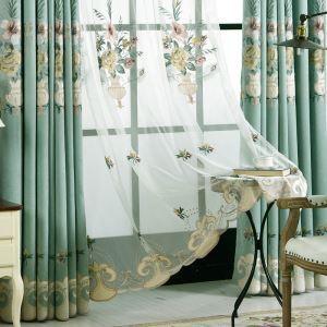 シアーカーテン オーダーカーテン UVカット 刺繍 和風 レースカーテン(1枚)