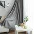遮光カーテン オーダーカーテン ジャカード 灰色 豪華 3級遮光カーテン(1枚)