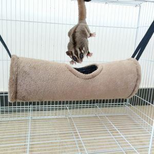 ハムスターおもちゃ ペットおもちゃ トンネル ハンモック 吊り床 保温 防寒ベッド 寝袋 おもちゃ ボア