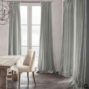 遮光カーテン オーダーカーテン 無地柄 麻&綿 北欧風 3級遮光カーテン(1枚) GT029