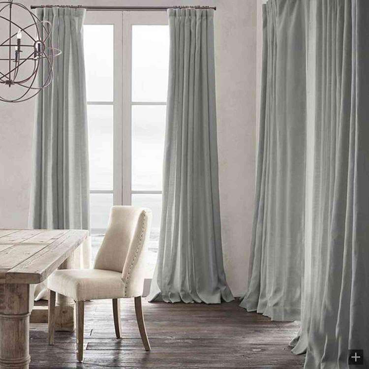 遮光カーテン オーダーカーテン 無地柄 麻&綿 北欧風 3級遮光カーテン 1枚 Gt029