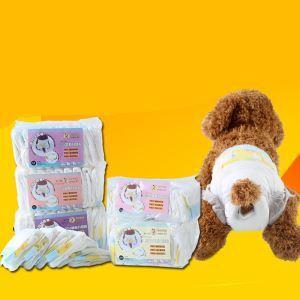 ペットオムツ 犬用生理パンツ 雌犬 女の子 超吸収性 使い捨て 快適 衛生用品 ペットケア 10枚入り