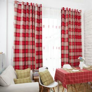 遮光カーテン オーダーカーテン ジャカード チェック柄 シェニール 豪華 3級遮光カーテン(1枚)