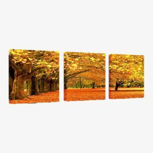 絵画 油彩画 アートパネル 装飾絵画 壁飾り 落ち葉 プレゼント 3pcs 30*30cm