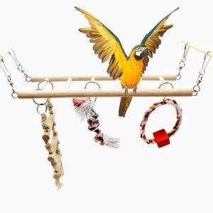 鳥おもちゃ 登りはしご お立ち台 止まり木 おもちゃ付き 鳥 インコ 小動物用