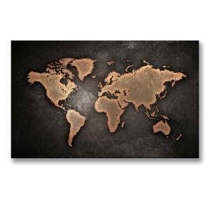 絵画 油彩画 アートパネル 装飾絵画 壁飾り 地図柄 プレゼント 30*45cm