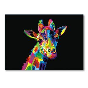 絵画 油彩画 アートパネル 装飾絵画 壁飾り キリン プレゼント 1pcs 30*45cm