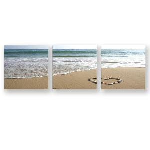 絵画 油彩画 アートパネル 装飾絵画 壁飾り 海辺 プレゼント 3pcs 30*30cm