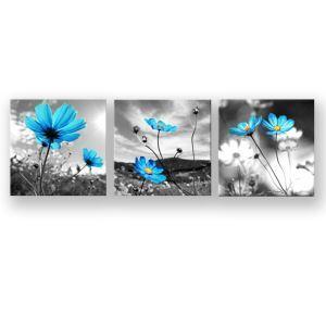 絵画 油彩画 アートパネル 装飾絵画 壁飾り サンド花 プレゼント 3pcs 30*30cm