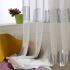 シアーカーテン オーダーカーテン UVカット 刺繍 バーコード柄 現代風 レースカーテン(1枚)