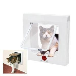 ペットドア 猫のドア 扉 ロック 犬猫出入り口 小型犬用 猫用ドア 取付簡単 4way切替