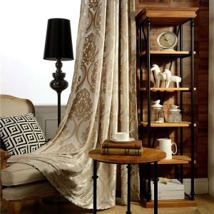 遮光カーテン オーダーカーテン ジャカード 綿フランネル 豪華 3級遮光カーテン(1枚)