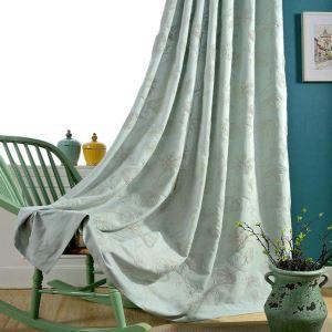 遮光カーテン オーダーカーテン 刺繍 花柄 和風 3級遮光カーテン(1枚)
