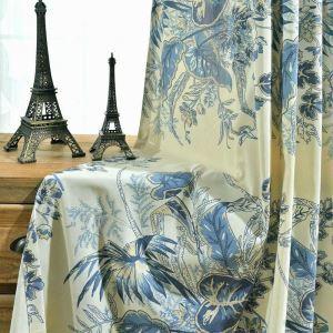遮光カーテン オーダーカーテン 捺染 葉柄 オシャレ 3級遮光カーテン(1枚)