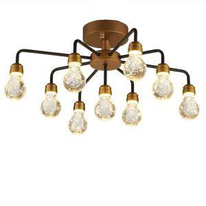 LEDシーリングライト 照明器具 ダウンライト リビング照明 寝室照明 放射状 LED対応 9灯 QM6009