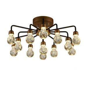 LEDシーリングライト 照明器具 ダウンライト リビング照明 寝室照明 放射状 LED対応 13灯 QM6013