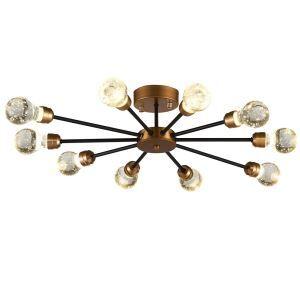 LEDシーリングライト 照明器具 リビング照明 寝室照明 放射状 レトロ LED対応 10灯 QM6210