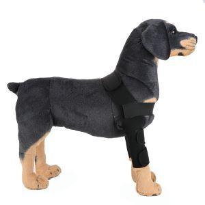 ペット用リハビリ 関節プロテクター マジックテープ 犬用膝サポーター 犬骨折治療 小型犬 中型犬 大型犬 老犬介護 保健 ケア用品 レッド 黒色