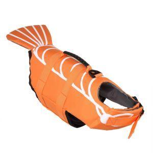 犬用救命胴衣 ライフジャケット 反射 犬救急服 水泳の練習/水遊び 安全安心 犬水泳必需品 オレンジ