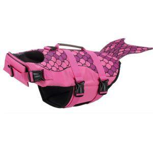 犬用救命胴衣 ライフジャケット 反射 犬救急服 水泳の練習/水遊び 安全安心 犬水泳必需品 バラ色
