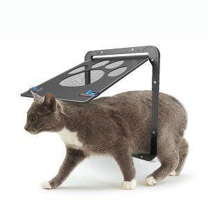 ペットドア 猫ドア 網戸専用 ロック 犬猫出入り口 小型犬用 猫用ドア 取付簡単