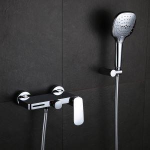 シャワー水栓 バス蛇口 ハンドシャワー 冷熱混合栓 水栓金具 風呂用 クロム