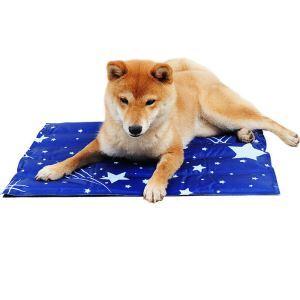 ペットクールマット ひんやりマット 犬猫兼用 熱中症暑さ対策 満天星柄 M