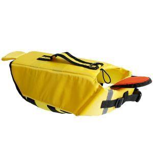 犬用救命胴衣 ライフジャケット ペット用フローティングベスト 水泳の練習/水遊び 安全安心 犬水泳必需品 黄色