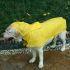 犬のレインコート カッパ 雨具 防水 防風 雨散歩 梅雨対策 軽い 折り畳み 着脱簡単 犬服 中型犬 大型犬 黄色