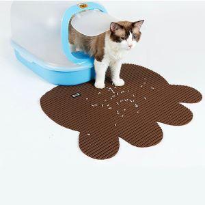 猫のトイレマット 飛び散り防止マット 砂取りマット 猫用品 ブラウン