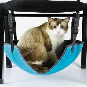 キャットハンモック 猫用 猫ベッド ペットマット 長円形 ブルー