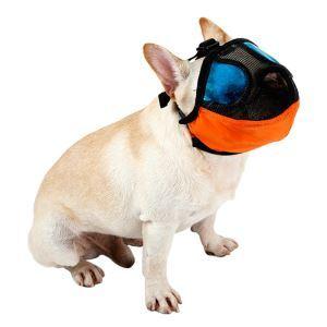 犬のマズル 犬用 口輪 防止口輪 拾い食い 無駄吠え 噛み 防止  犬外出便利グッズ オレンジ M
