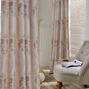 遮光カーテン オーダーカーテン ジャカード 花柄 欧米風 3級遮光カーテン(1枚)