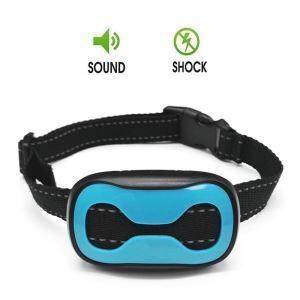 無駄吠え防止首輪 トレーニングカラー 伸縮首輪 レシーバ防水 しつけ用 警告音 振動感度で制御 ブルー