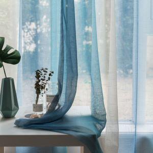 シアーカーテン オーダーカーテン UVカット 捺染 現代風 レースカーテン(1枚)