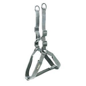 犬用ハーネス ペット胴輪 引っ張り防止 ソフト 調節可能 小中大型犬 散歩 訓練 お出掛 軽便 グレー