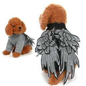 ペット服 犬猫兼用 羽服 鳥タイプの服 変身服 かわいい 快適 オシャレ 黒色