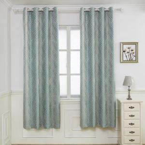 遮光カーテン オーダーカーテン ジャカード シェニール 菱形柄 米式 3級遮光カーテン(1枚)