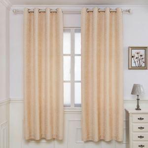 遮光カーテン オーダーカーテン ジャカード シェニール リング柄 米式 3級遮光カーテン(1枚)