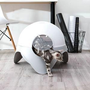 猫のトイレ 閉鎖トイレ 宇宙カプセル ドームタイプ プラスチック クリーニング用品 消臭抗菌